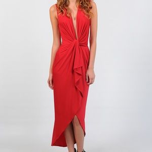 Betsy Moss Asymmetrical Cocktail Dress